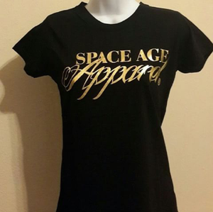 Image of Space Age Gold Foil Print tee (Women)