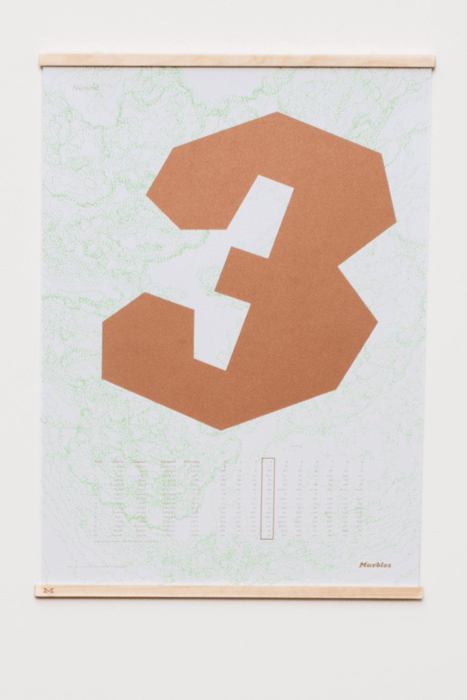 Image of Número Tres · 50×70cm