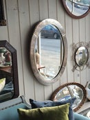 Image of Art Deco Silver Plated Mirror