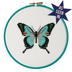 Image of Mint Butterfly cross-stitch kit