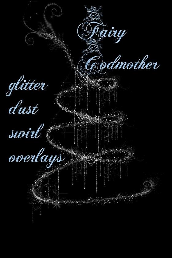 Image of Fairy Godmother Glitter Dust Swirl Overlays