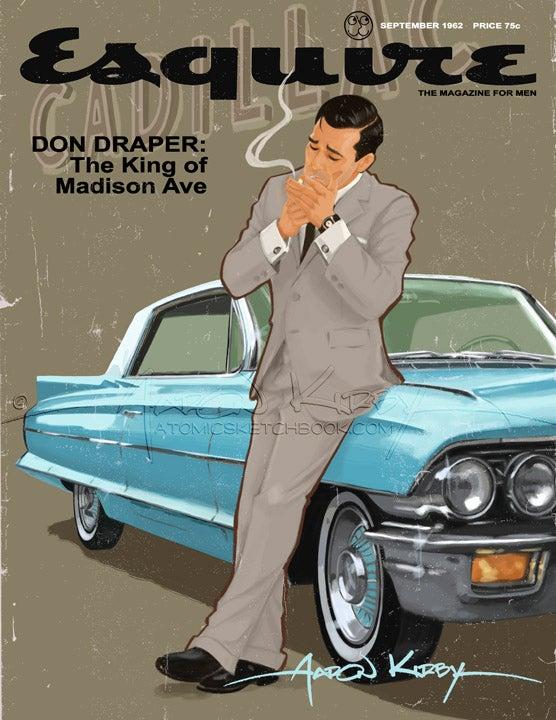 Image of Don Draper in Esquire magazine print
