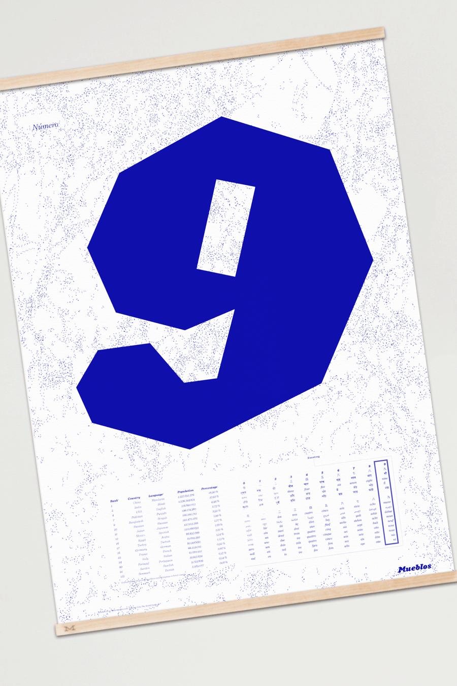 Image of Número Nueve · 50×70cm