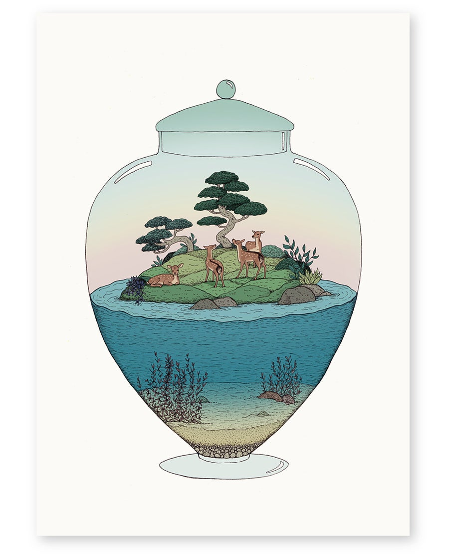 Image of 'Bambi Island' Limited Edition Art Print