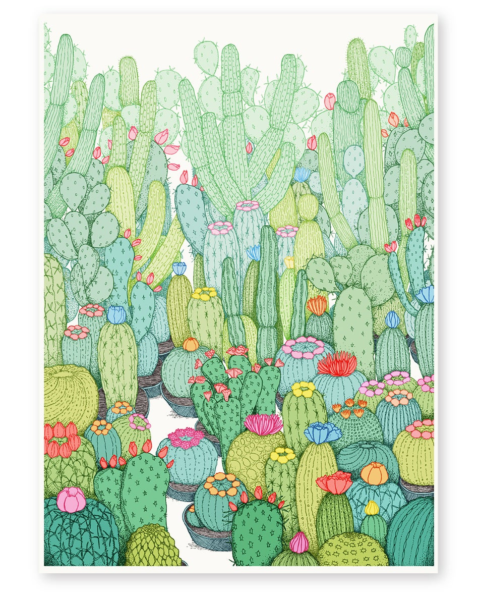 Image of 'Spring Cacti' Limited Edition Art Print