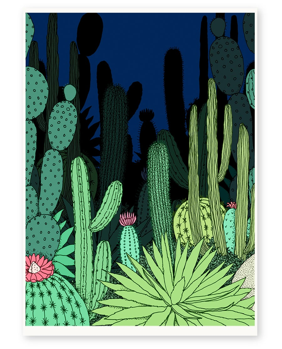 Image of 'Night Garden' Limited Edition Art Print