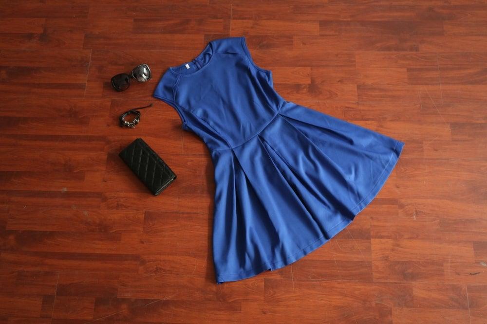 Image of Cute hot blue vest dress
