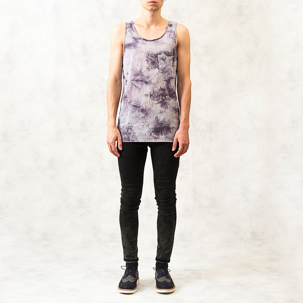 Image of Tie-Dye Cotton-Blend Vest