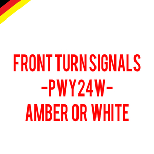 Image of PWY24W Front Turn Signals Error Free - Available in White or Amber Fits: VW CC