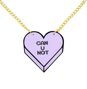 """""""CAN U NOT"""" Candy Heart Necklace - Black Heart Creatives"""