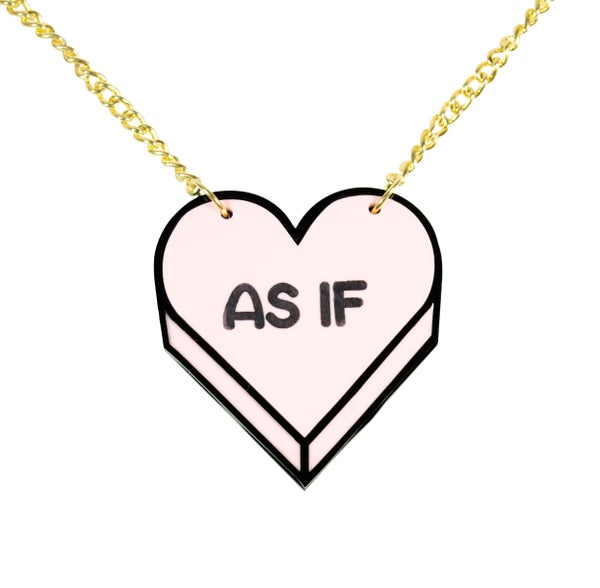 """AS IF"" Candy Heart Necklace - Black Heart Creatives"