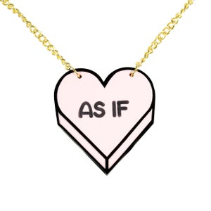 """Image of """"AS IF"""" Candy Heart Necklace"""