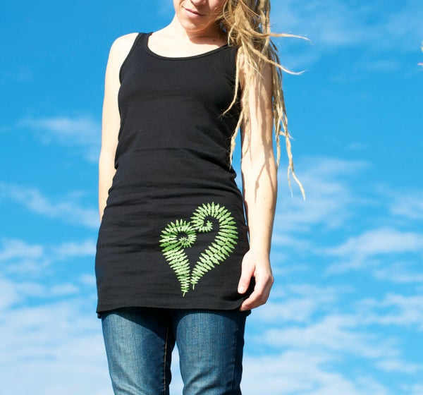 Image of Fern Heart- Tunic Tank Dress