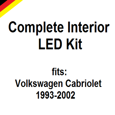 Complete interior led kit fits volkswagen cabriolet 1993 for Compleet interieur