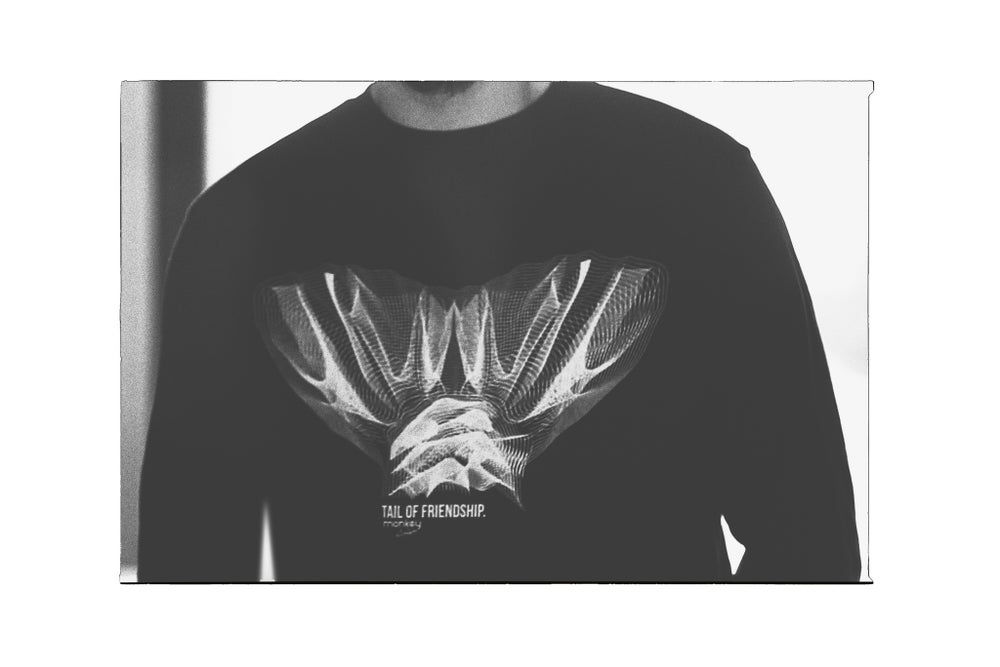Image of Monkey Climber Tail of Friendship crewneck I Black
