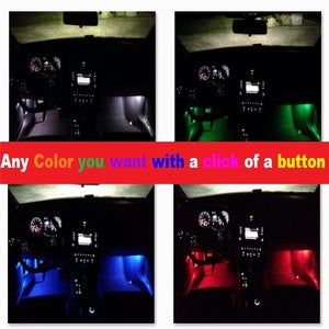 Image of Remote Control Color Changing Footwell LEDs Fits: MKVII 2015 Volkswagen GTI / Golf