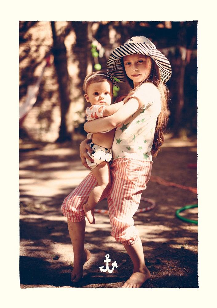 Image of SS15 <> Short bloomer bébé garçon Noé&Zoé à rayures noires