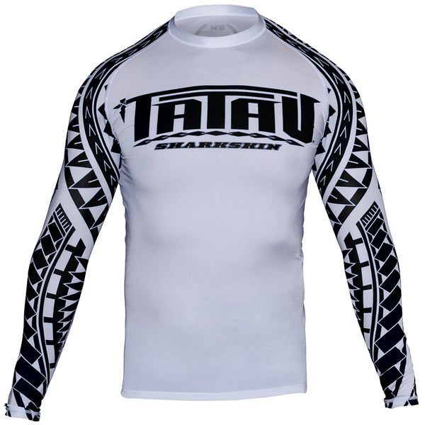Image of Adult Tatau Sharkskin L/S White/Black *Limited edition