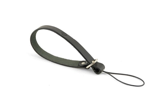 Image of Leather camera wrist strap black