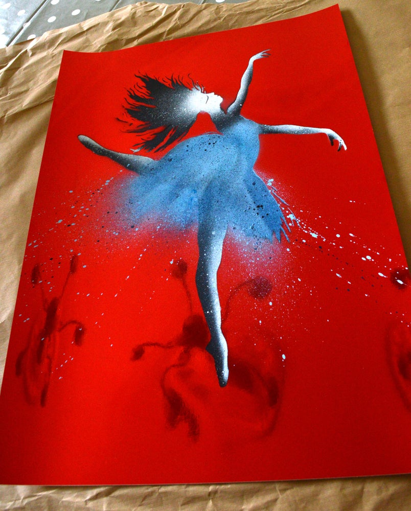 """Image of """"The Ballerina"""" Shiny Red Paper Edition"""