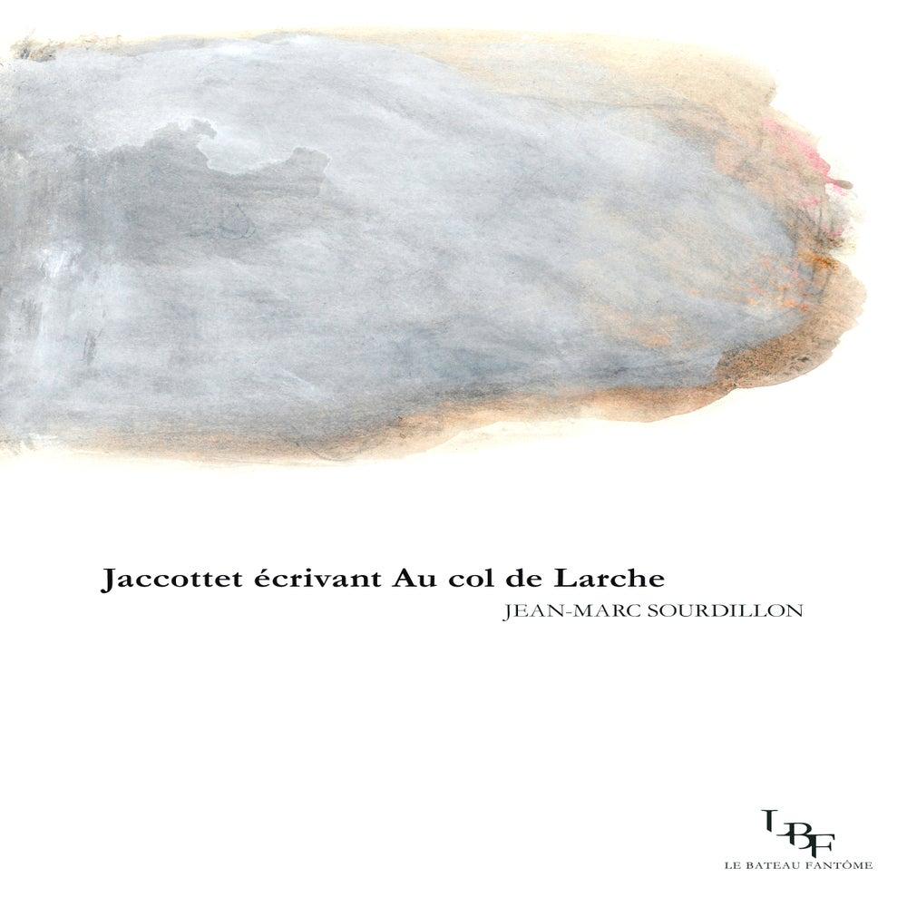 """Image of """"Jaccottet écrivant Au col de Larche"""", par Jean-Marc Sourdillon"""