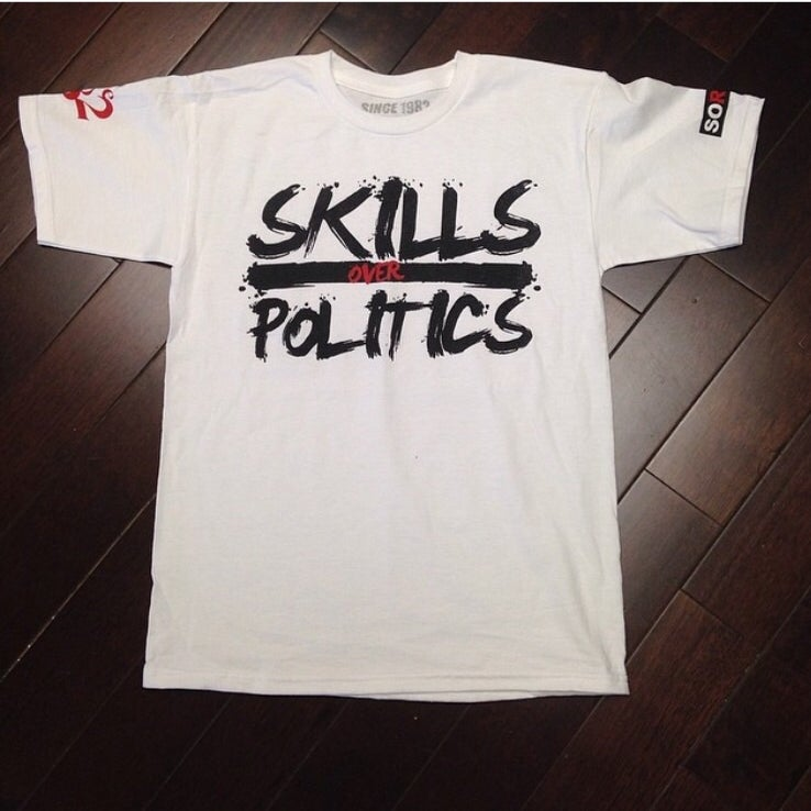 Image of Skills Over Politics Tee Shirt (Pre Order)