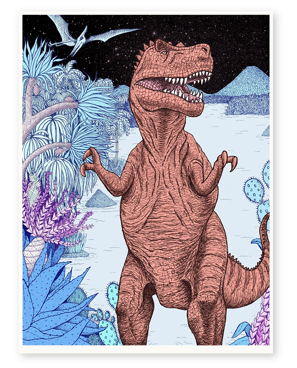 Image of 'T.Rex' Limited Edition Art Print