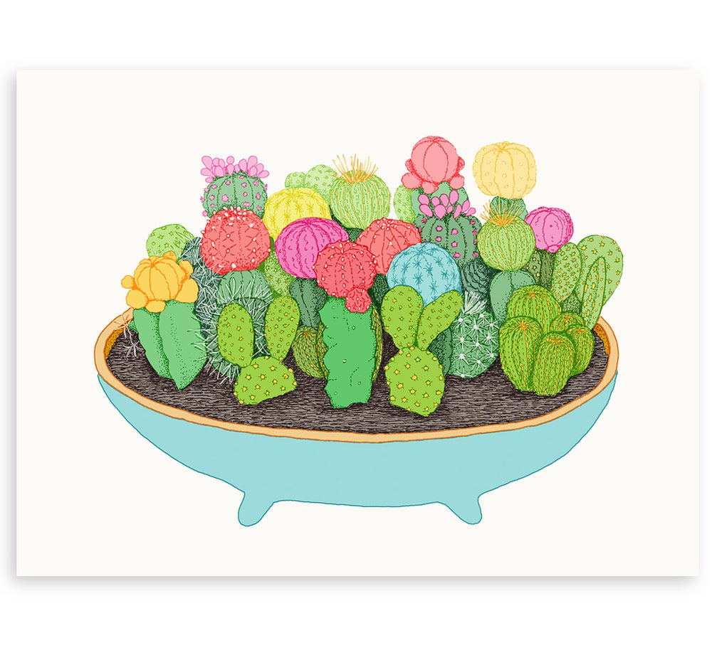 Image of 'Cactus Party' Limited Edition Art Print