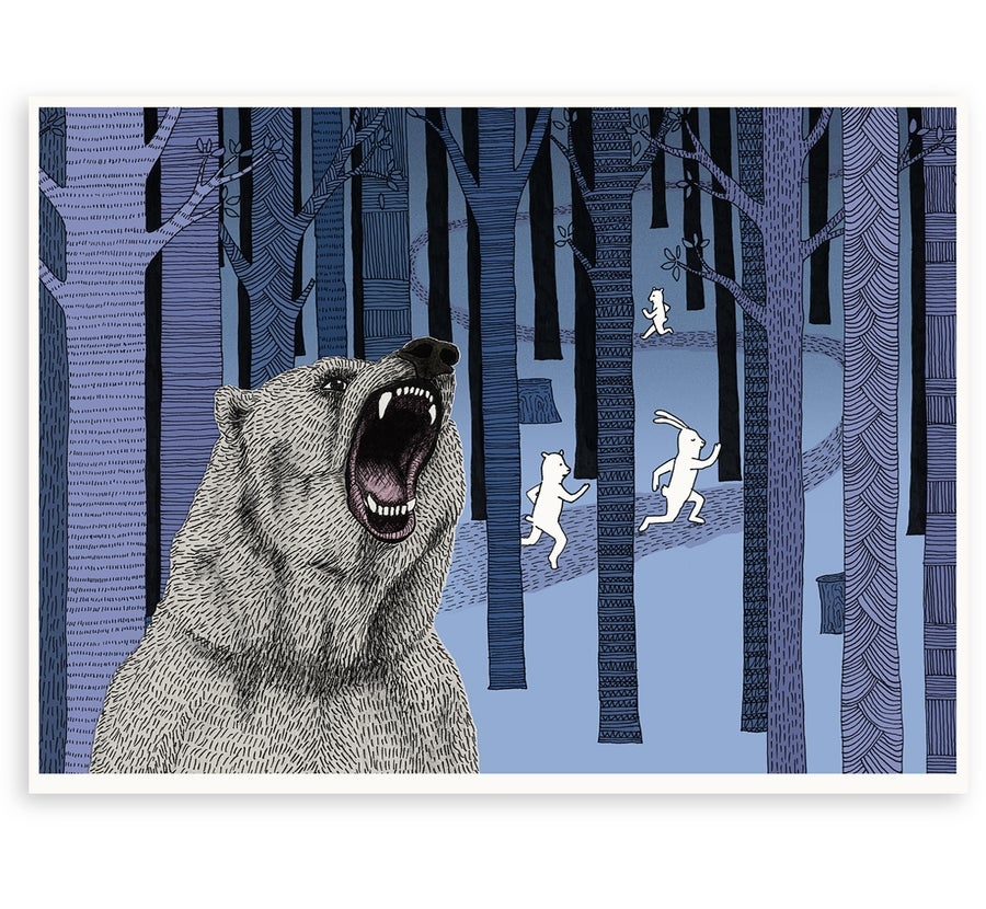 Image of 'Grizzly Bear' Limited Edition Art Print