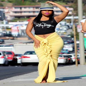 Image of Philthy Ragz Butter Yellow Ruffle Maxi Pre-Order