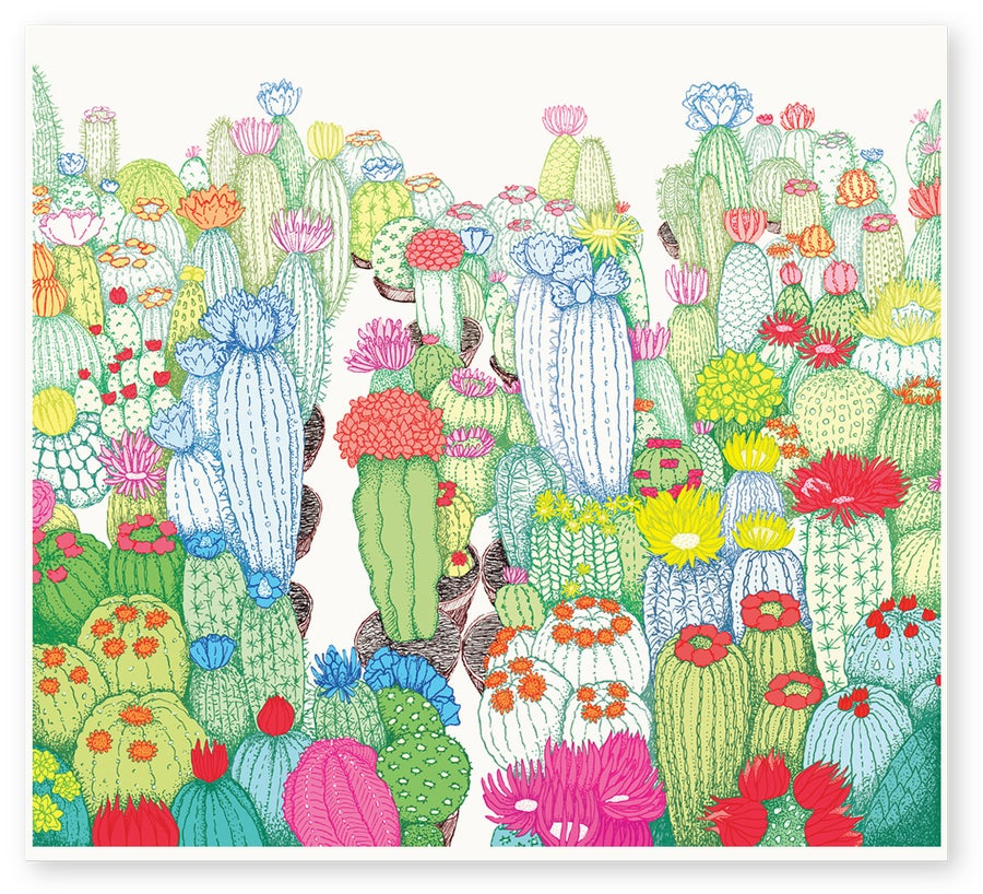 Image of 'Cactus Land' Limited Edition Art Print