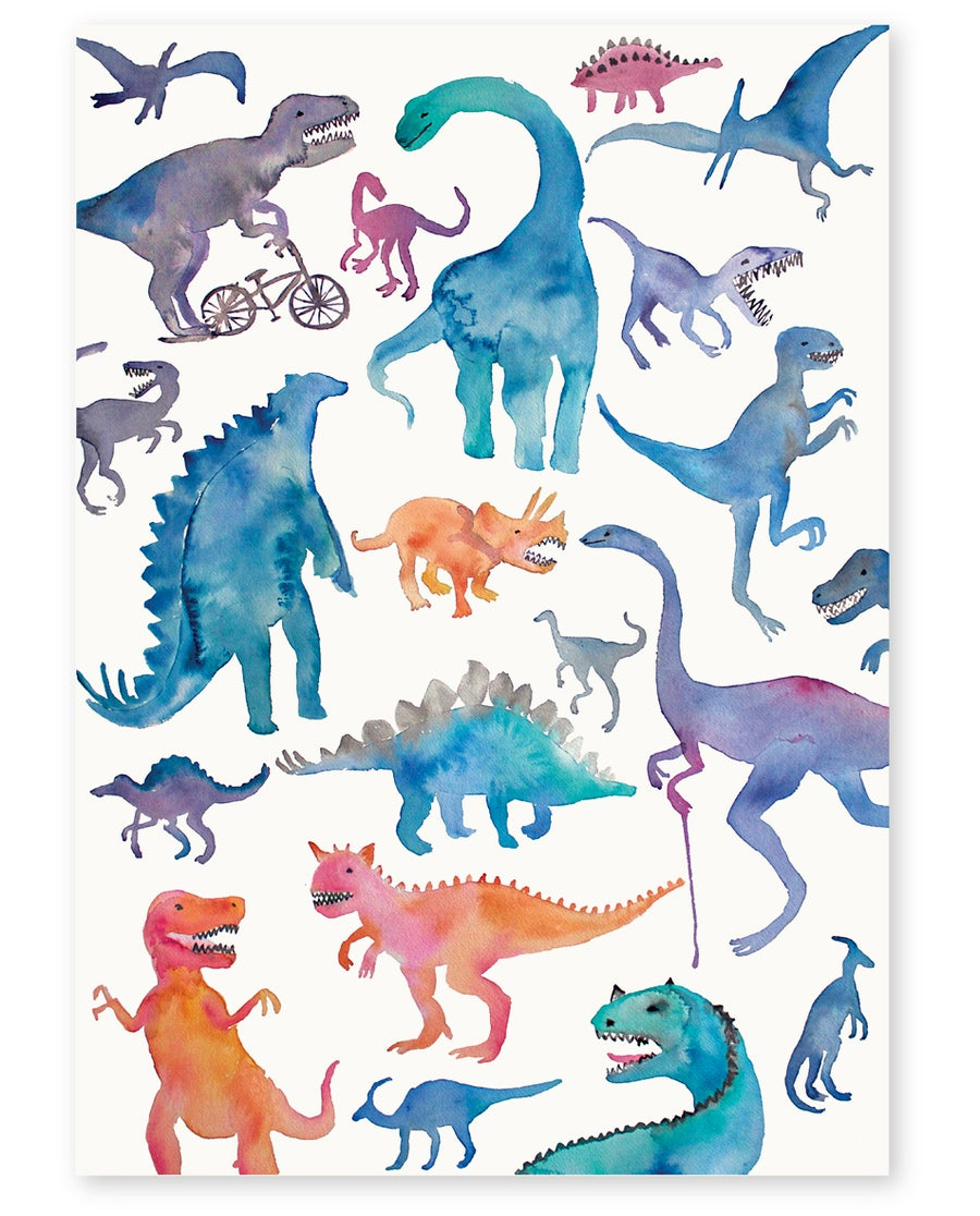 Image of '21 Dinosaurs' Art Print