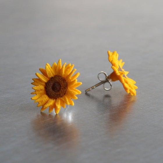 Image of 3D printed Earrings Van Gogh Sunflower