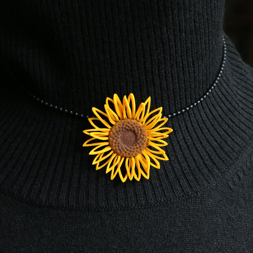 Image of 3D printed Pendants Van Gogh Sunflower