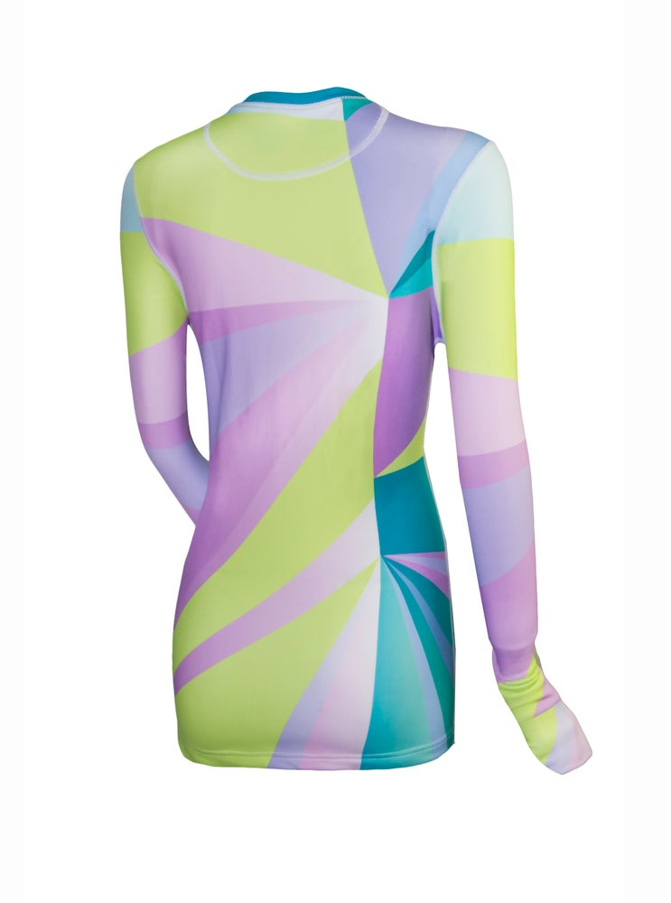 Image of Womens Smashed Glass Thermal Top