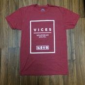 Image of Vices Block Tee - Crimson