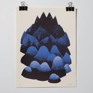 "Image of Sérigraphie ""Mountain"" par Marta Orzel"
