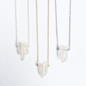 Image of Glacier Trio - clear quartz - choose your chain SOLD OUT