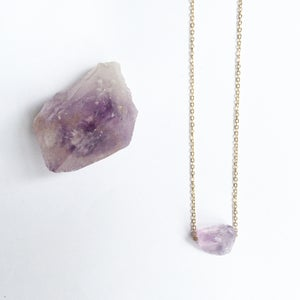 Image of Amethyst Nugget Necklace - Gold Plated Brass / Sterling Silver
