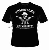 "Image of Tombstone University ""I'm Your Huckleberry""  Short Sleeve Black"