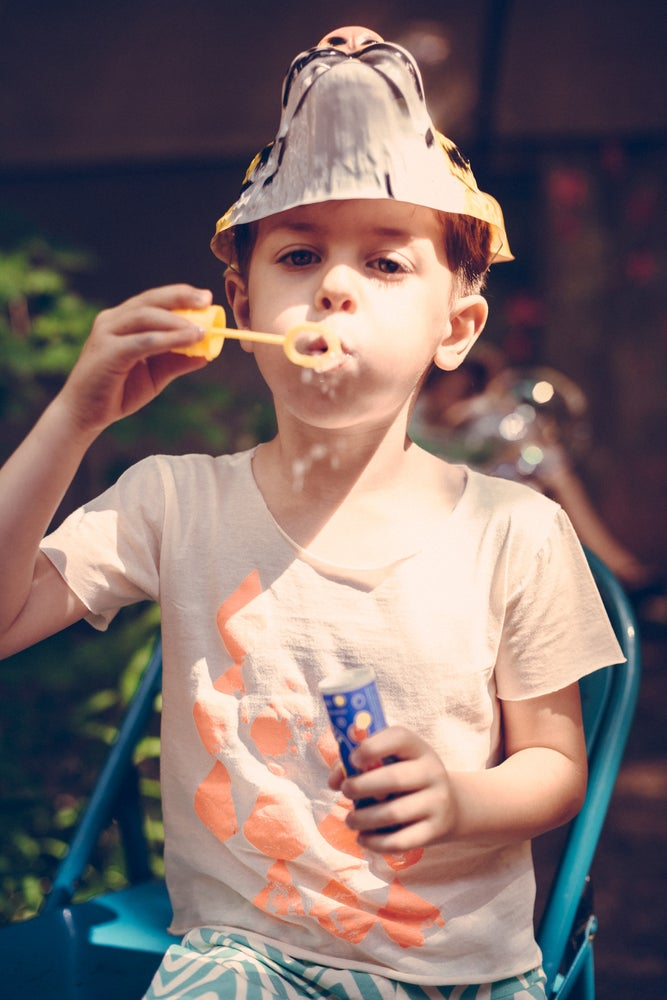 Image of SS15 <> T-shirt manches courtes bébé garçon Noé&Zoé à imprimé losanges <> 3M-24M