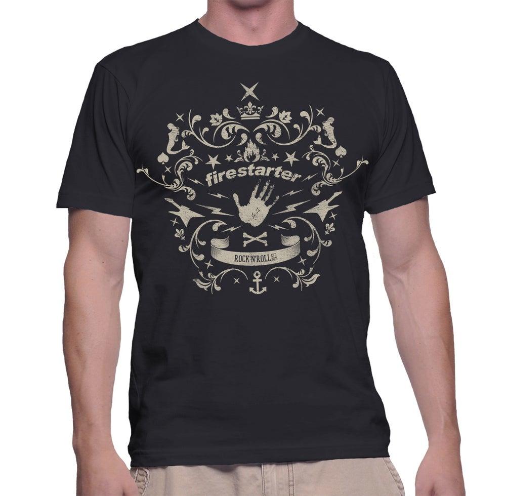 Image of Firestarter Logo-Shirt Druck: black, Men