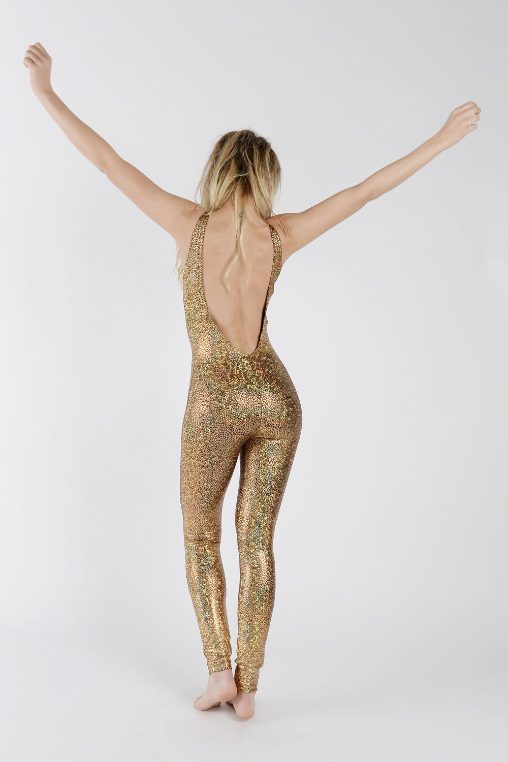 Image of Gold Disco Mermaid Catsuit