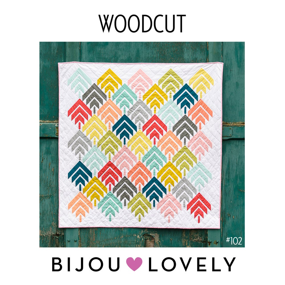 Image of Woodcut Quilt Pattern - PDF
