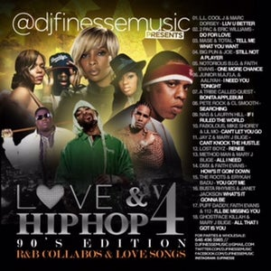 "Image of LOVE & HIP HOP MIX VOL. 4 ""90s EDITION""  (R&B COLLABOS)"