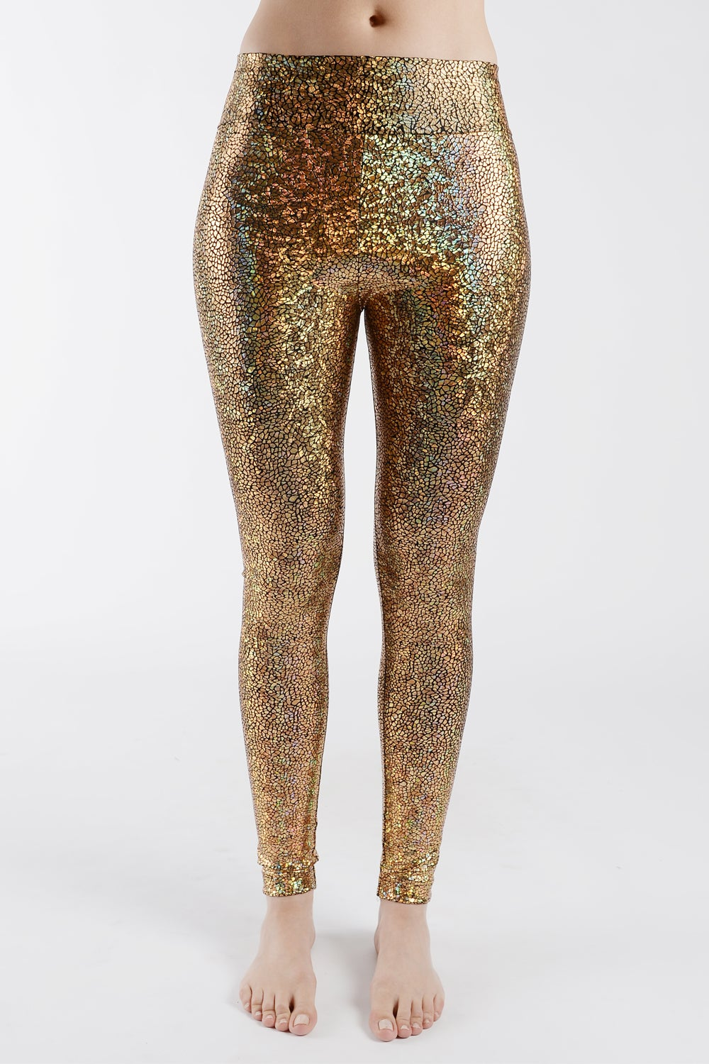 Image of Gold Disco Mermaid High Waisted Leggings