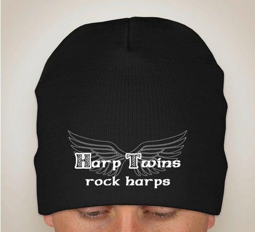 Image of Harp Twins rock harps KNIT BEANIE