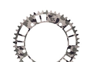 Image of 6061 - aarn - aamerica b&w edition - 144#47/49 Track Chainring (144BCD//47/49-Tooth)