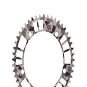 Image of aarn - aamerica b&w edition - 144#47/49 Track Chainring (144BCD//47/49-Tooth)