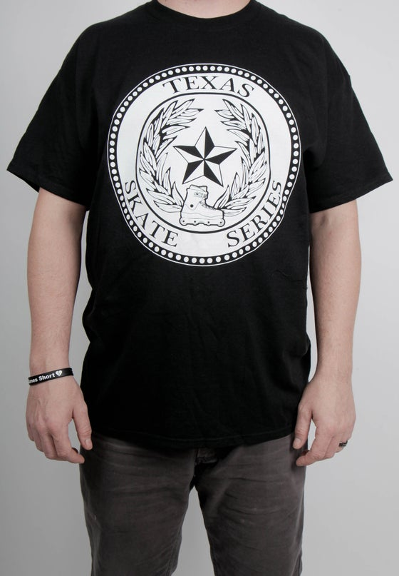 Image of Texas Skate Series logo shirt